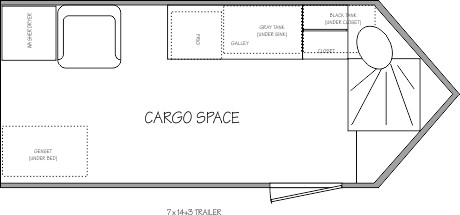 Cargo Space in the 7x14 Cargo Trailer