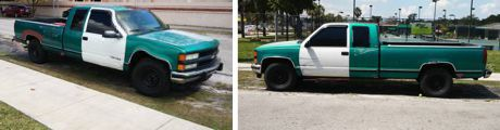 '94 Ext Cab Chevy Pickup with Matching Doors