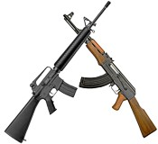 AR-15 and AK-47 Rifles