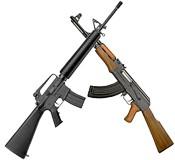 AR-15 and AK-47 Rifles