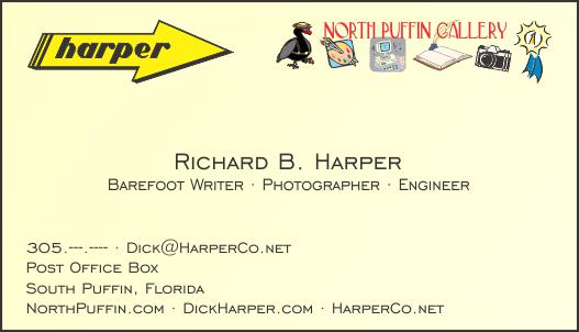 North Puffin Gallery Business Card