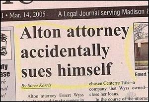 Attorney Sues Self