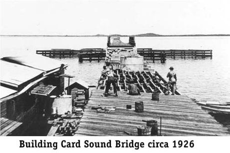 Building Card Sound Bridge, 1926