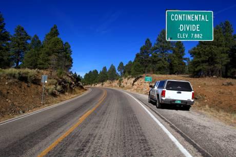 Continental Divide--7,500 Feet