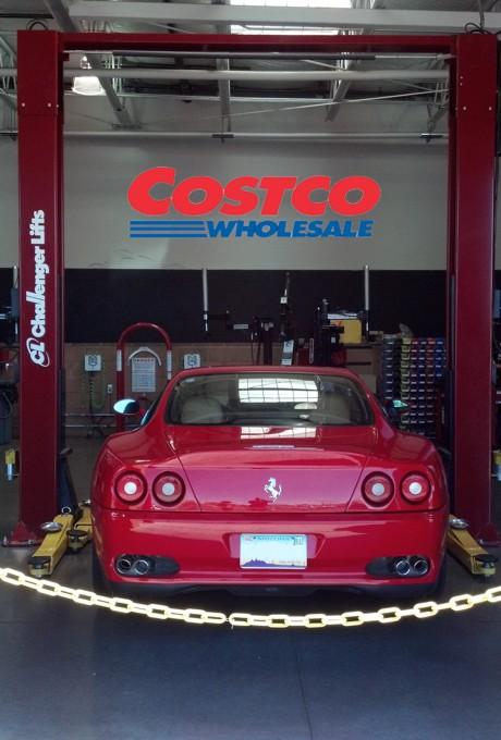 Ferrari 575M in Costco Service Bay
