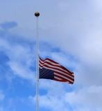 US Flag -- Mayday at Half Staff