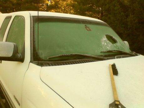 Scraping the Truck at the Postel, 10-19-15