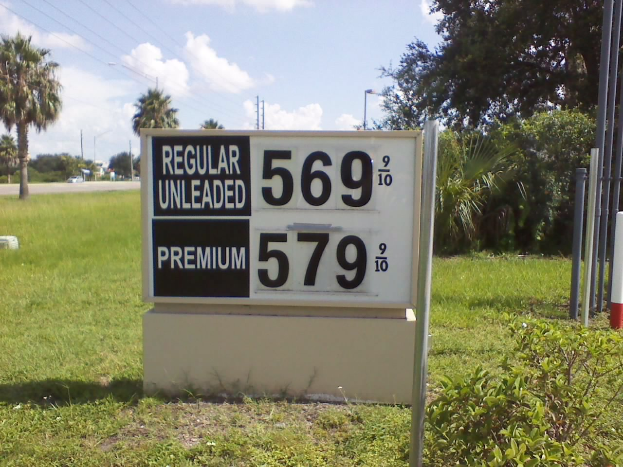 Gas Price in Orlando, 7/2013