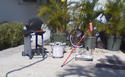 Outdoor cooking maintenance in South Puffin