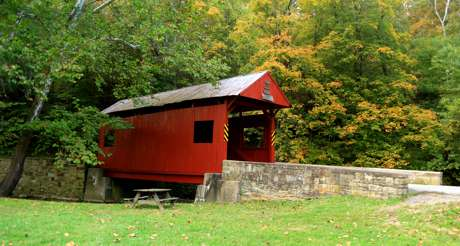 Henry Covered Bridge in Monongahela, PA
