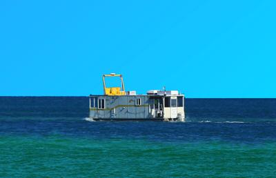 Odd House Barge in the Florida Straits
