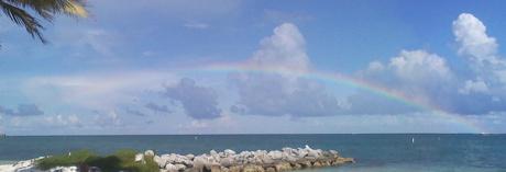 Rainbow over Inch Beach