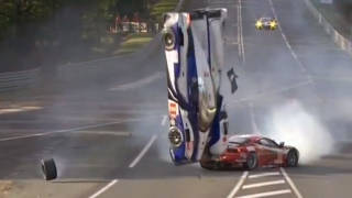 Crash at LeMans