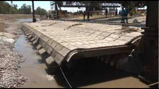Laying Mat for River Bank Stabilization