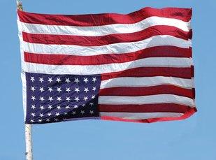 U.S. Flag Flown Upside Down