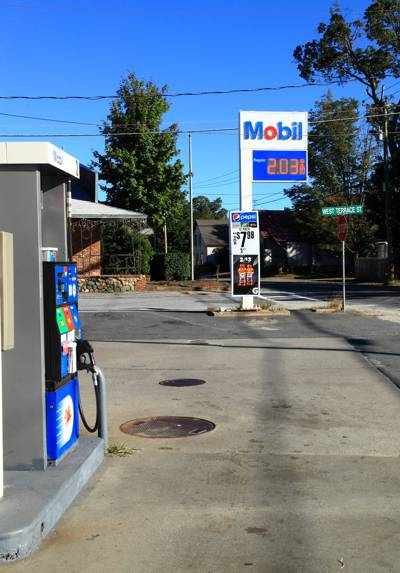 Mobil station in Claremont, NH, this weekend