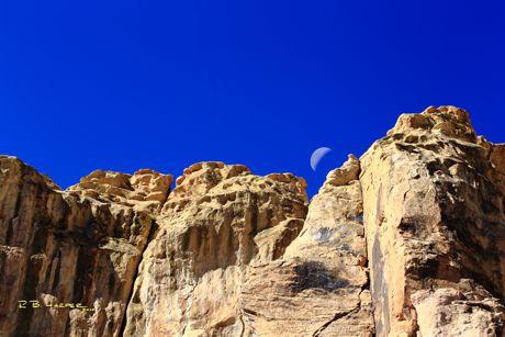 Moon over El Morro