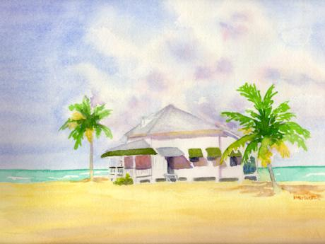 Pigeon Key -- watercolor by Mary D. Harper