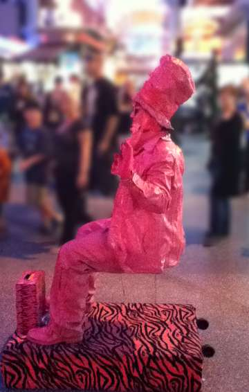 Pink Lady with Suitcase