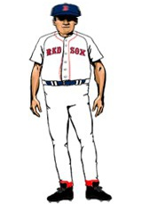 North Puffin Red Sox Home Uniform