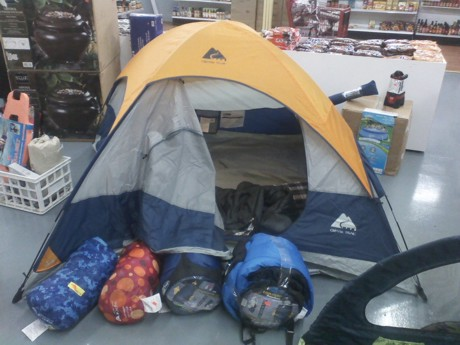 store camping
