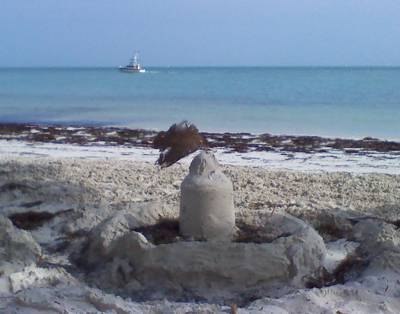 Sand castle defends against invasion of the Keys