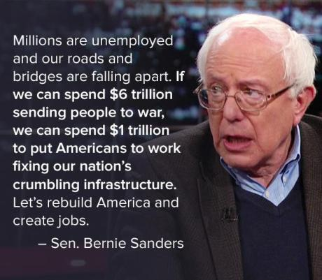 Millions are unemployed and our roads and bridges are falling apart!