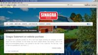 sinagra front page