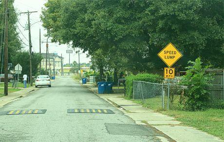 Lumpy Road in Louisiana