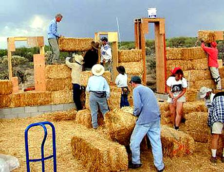 Real Field Bales with People for Scale
