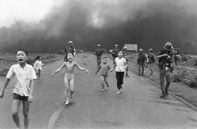 The image is an Associated Press photograph that won the Pulitzer Prize for spot news. It was taken by Nick Ut on June 8, 1972.