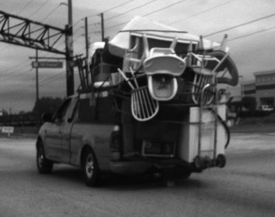 Overloaded Modern Truck