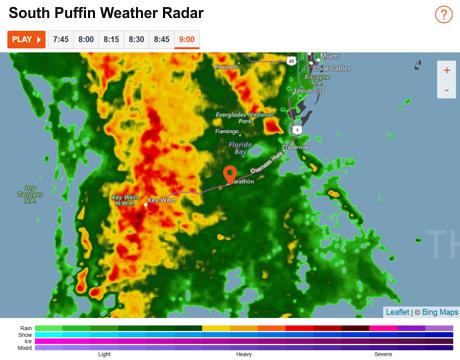 South Puffin Weather Radar - Uh Oh